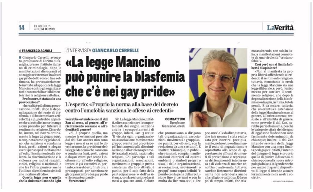 Cerrelli La legge mancino e i gay pride